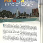 Stylus: Luxury in Aruba, Summer 2009 page 1