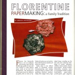 Stylus: Papermaking in Florence, Italy, Dec/Jan 2009 page 1