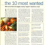 Vegetarian Times: 10 Most Wanted in Organic, June 2001