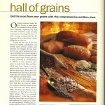 Vegetarian Times: Grain Nutritional Chart, March 2001 page 1